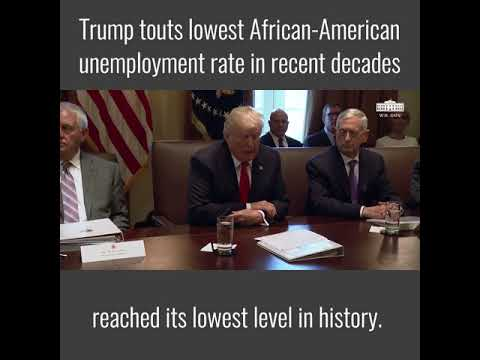 Trump touts lowest African-American unemployment rate in recent decades | The Daily Signal
