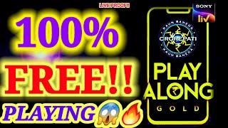 how to play kbc play along gold free  (HINDI)