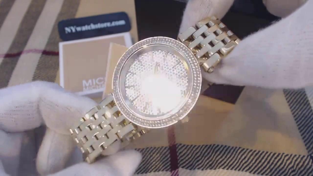 408493572593 Women s Michael Kors Darci Gold Crystallized Glitz Watch MK3438 ...