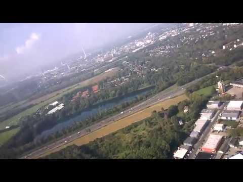 Gliding over Leverkusen Germany - Winch Launch