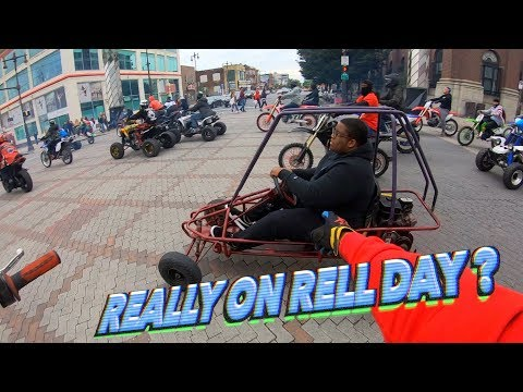 HE REALLY RODE THIS ON RELL DAY ! (HE'S INSANE) | BRAAP VLOGS