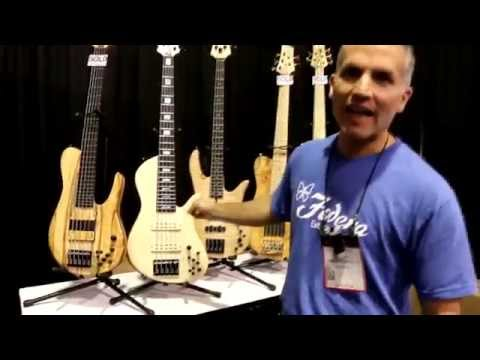 NAMM 2015 - FODERA - New Product Walkthrough (incredible basses!)