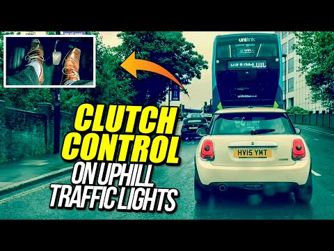 Clutch Control On Uphill Traffic Lights - Driving Lesson!