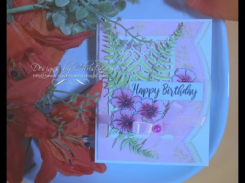 FREE COTTAGE GARDEN DIE /& STAMP SET PAPERCRAFT ESSENTIALS MAGAZINE ISSUE 149
