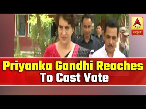 Priyanka Gandhi Reaches To Cast Vote Along With Robert Vadra   ABP News