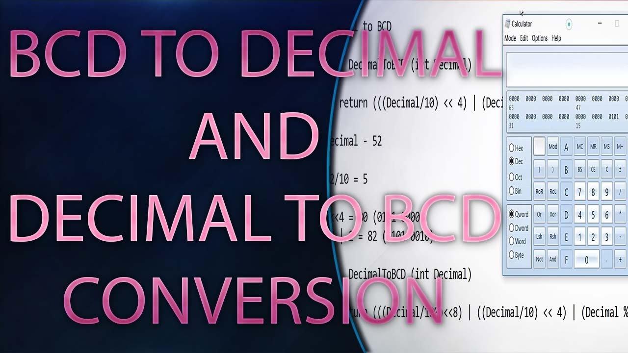 Bcd To Decimal And Conversion C Program Embedded Binarytobcd Converter Module Youtube Premium