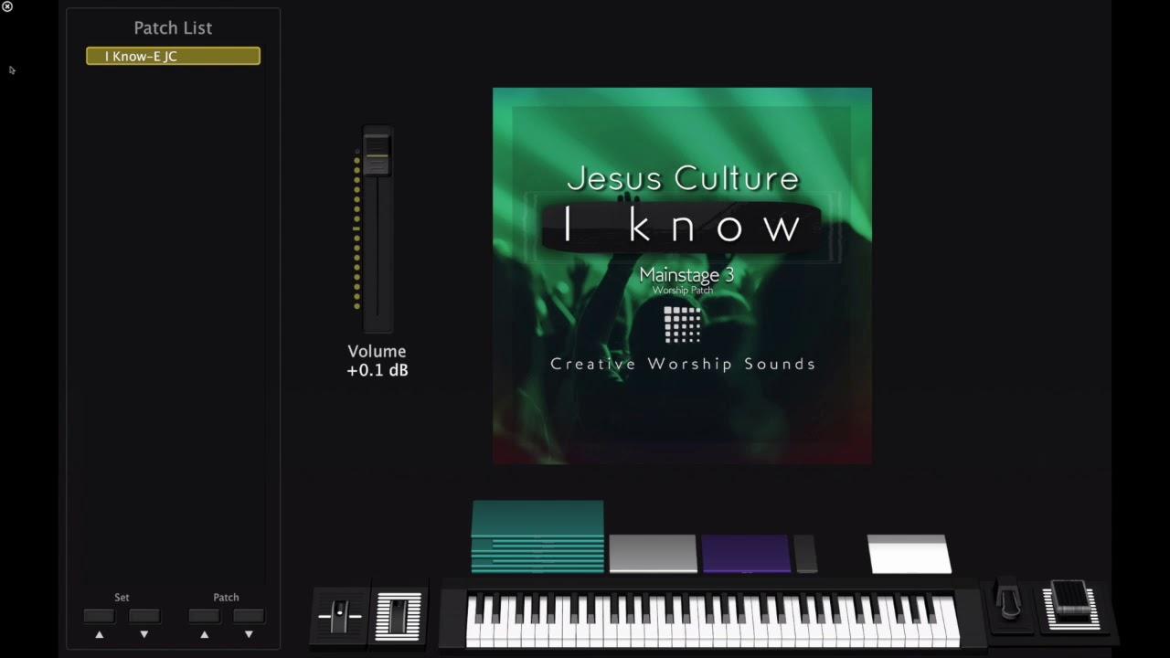I Know-Jesus Culture Mainstage Demo Patch