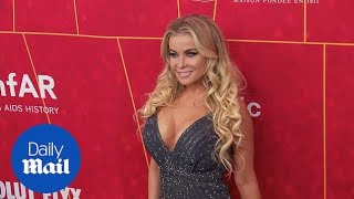 Taking the plunge! Carmen Electra at the amfAR Gala