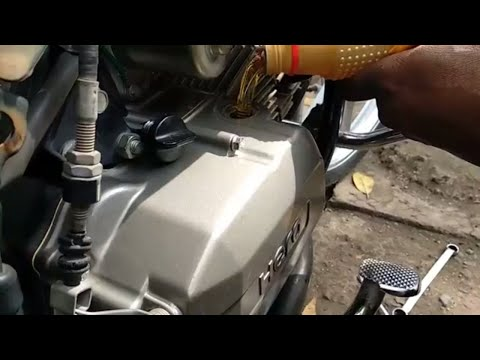 how to change engine oil in hero passion pro
