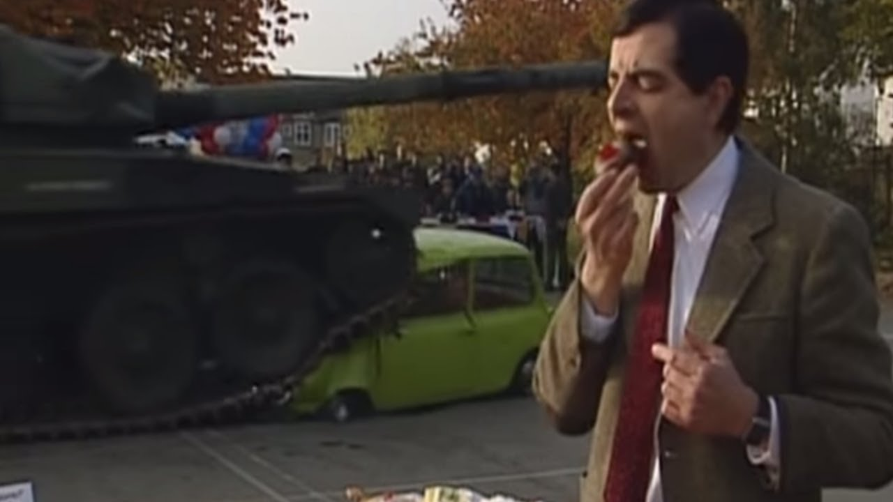 Car Squashed By Tank Mr Bean Official Youtube