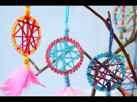 How To Make Simple Dreamcatchers Sophie's World YouTube Mesmerizing Making Dream Catchers With Kids
