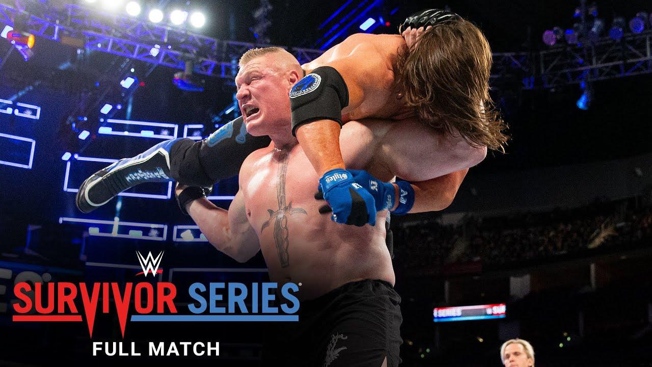 Download FULL MATCH - Brock Lesnar vs. AJ Styles - Champion vs. Champion Match: Survivor Series 2017