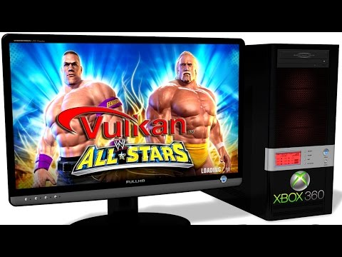 XENIA Xbox 360 Emulator - WWE All Stars (2011). Vulkan. Test run on PC #2