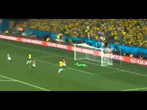 Neymar Amazing Goal - Brazil vs Croatia 3-1 WORLD CUP 2014