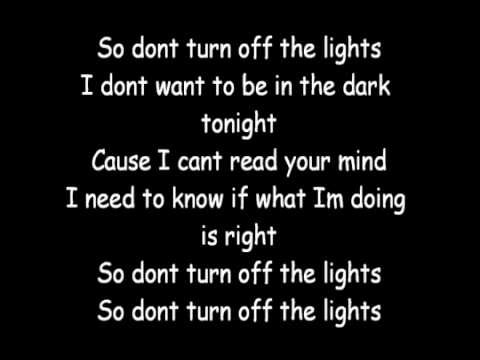 Enrique Iglesias Don't Turn Off The Lights Lyrics
