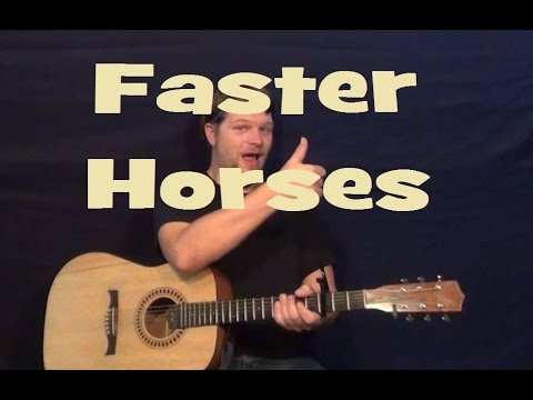 Faster Horses (Tom T. Hall) Easy Guitar Lesson How to Play Tutorial