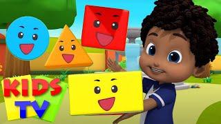 Şekiller Şarkısı  Popüler tekerlemeler  Animasyonlu videolar  Kids TV Türkçe  Okul öncesi
