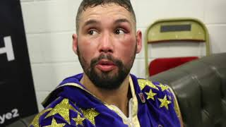 'HE'S GOT A F***** HARD HEAD' -TONY BELLEW MAKES WAY FROM RING TO DRESSING ROOM *IMMEDIATE REACTION*