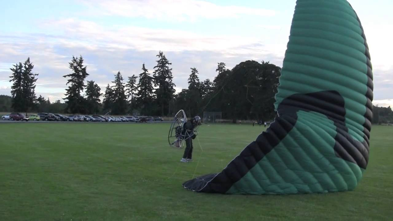 Paramotor Crash on takeoff   Bad day for PPG