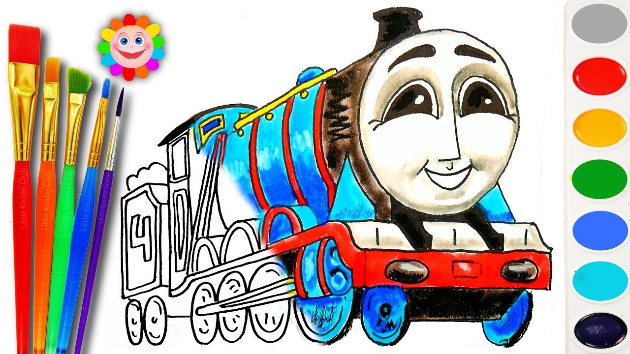 Coloring With Thomas And Friends How To Draw Gordon Learn
