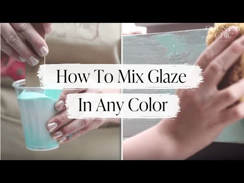 How to Glaze Furniture in Any Color | Country Chic Paint Clear Glaze