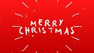 Christmas Typography Card After Effects Template