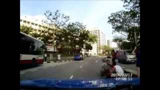 Taxi driver knock down school girl dashing across Sembawang road