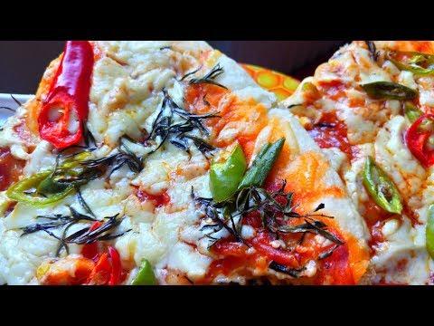 صورة  طريقة عمل البيتزا طريقة عمل البيتزا بالصلصة الحارة والزعتر الأخضر 😋مذاق روعة  وبعجينة قطنية😍 طريقة عمل البيتزا من يوتيوب