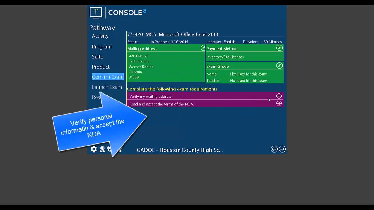 console 8 certiport