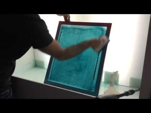 Emulsion Remover Screen Print - How To