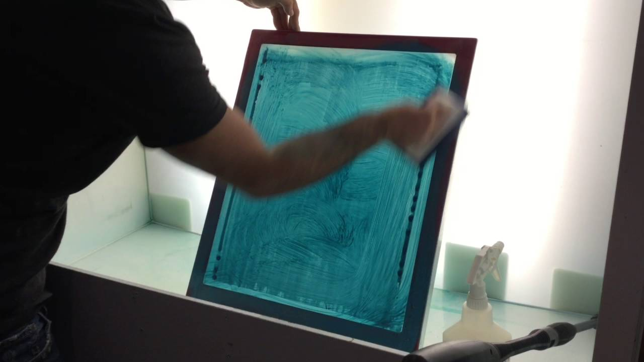 photo of screen print emulsion