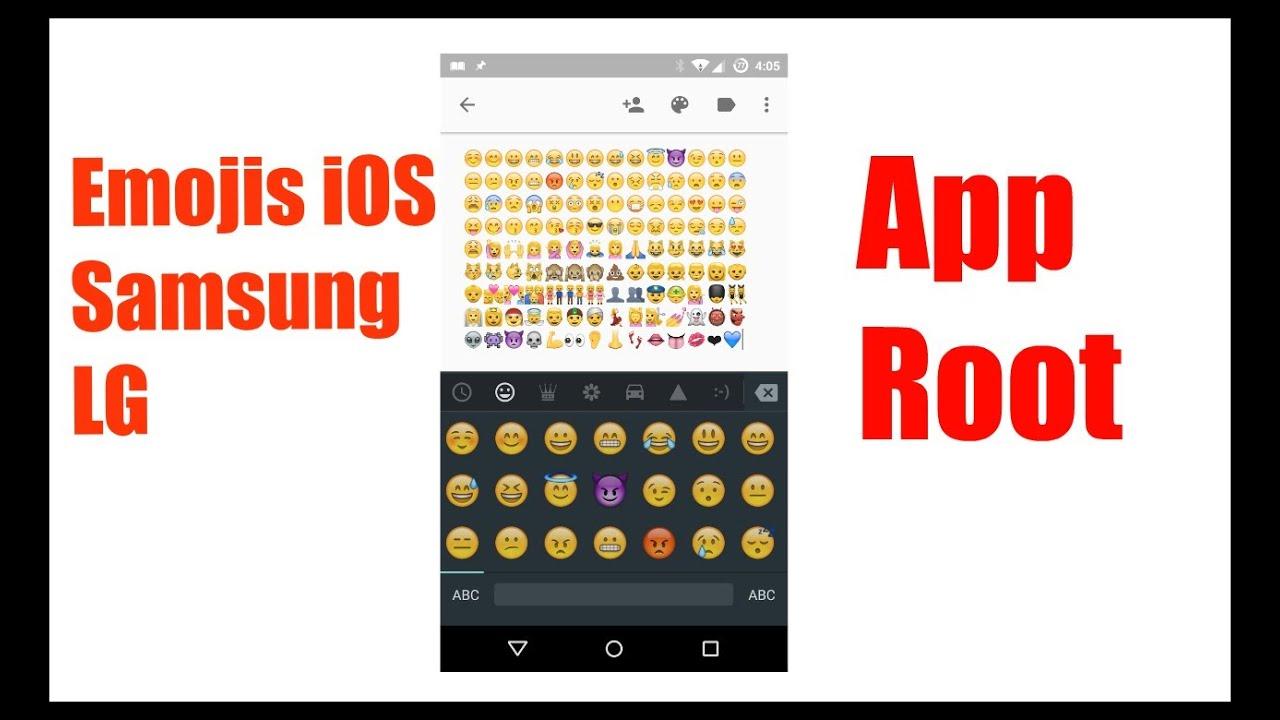 Emoji Switcher App para poner Emojis de iOS, Samsung, LG