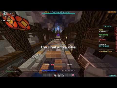 HiveMC DeathRun - Mine - World Record [55.7 sec.]