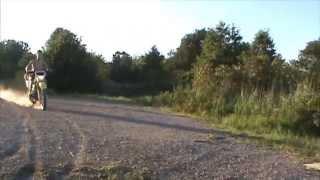 fat kid does backflip on bmx bike