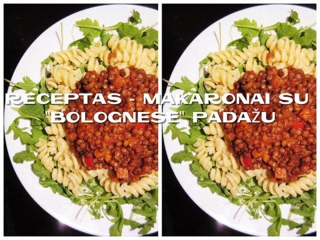 beVirtuvės - makaronai su bolognese padažu / receptas / iCook /  Vegan Pipiras