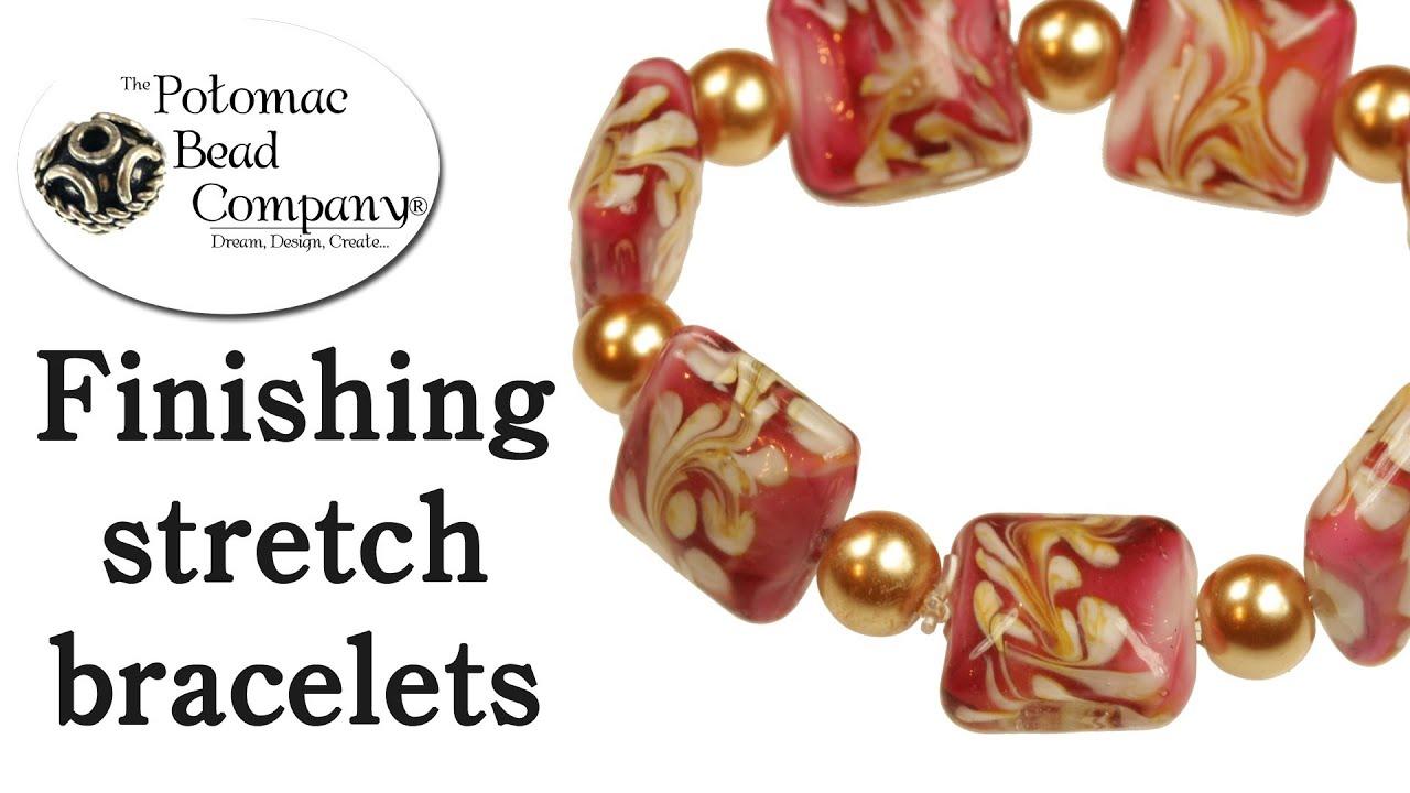 Making Stretch Bracelets - YouTube