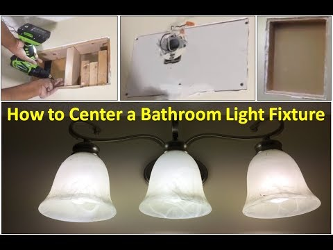How to Center a Bathroom Light Fixture with Drywall Patch - YouTube