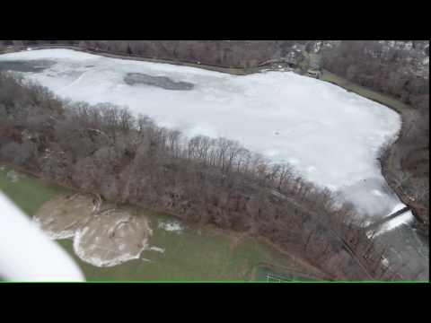 Mill Creek Park -Winter 2016- West Side Youngstown drone phantom 4 Lake Glacier