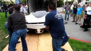 Shelby SuperCars (SSC) Tuatara unloading at Pebble Beach
