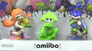 CGR Undertow - SPLATOON AMIIBO 3-PACK review for Nintendo Wii U
