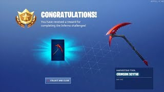 Just unlocked the new Crimson Scythe pick axe for the Inferno skin #fortnite