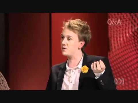 Josh Thomas on Gay Marriage and Homophobia | ABC Q&A 20/06/2011
