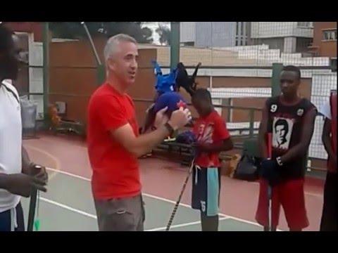 Uganda Floorball Players training at Sheraton Hotel Kampala