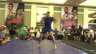UFC 189: Open Workouts Recap