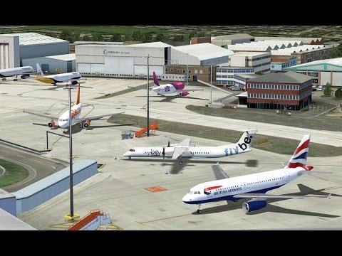 Flight Simulator X - British Airways 737-800 Luton-Manchester Full Flight