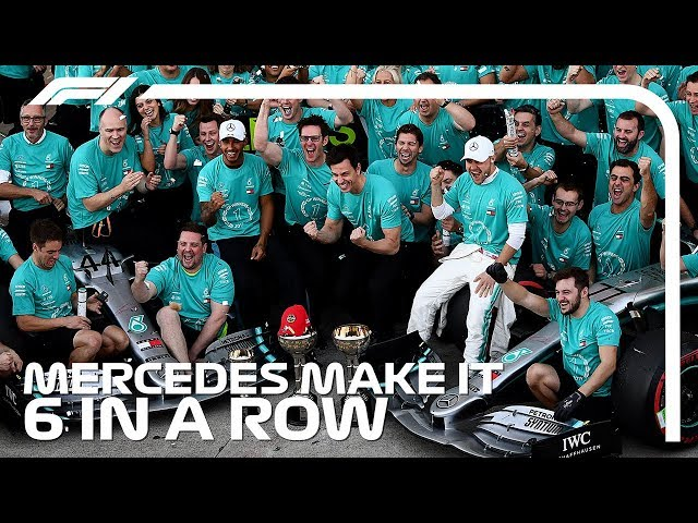 Six In A Row! Mercedes Match Ferrari Record With 2019 Title Win