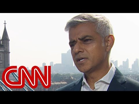 London Mayor Sadiq Khan responds to Trump