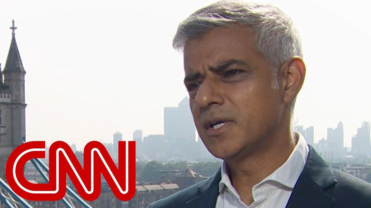 London Mayor Sadiq Khan responds to Trump