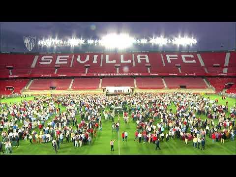 Light show RSP. Fieles de Nervión. 30/05/18. Sevilla FC