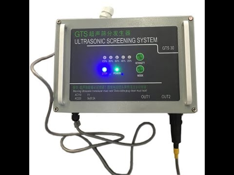 Attached FINOSONIC Screening System to Existing Vibrating Screen